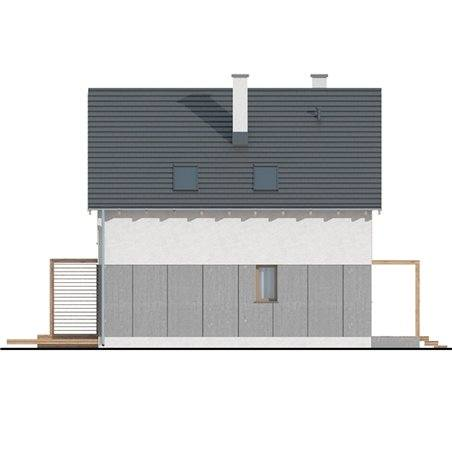 Proiecte Case - Proiect Casă Mică, cu Mansardă, 142 mp, 4 Camere, 2 Băi, ID 4506
