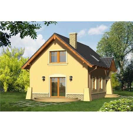 Proiecte Case - Proiect Casă Mică, cu Mansardă, 135 mp, 5 Camere, 2 Băi, ID 4437