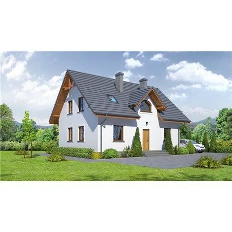 Proiecte Case - Proiect Casă de Vis, cu Etaj, 186 mp, 6 Camere, 2 Băi, ID 4432