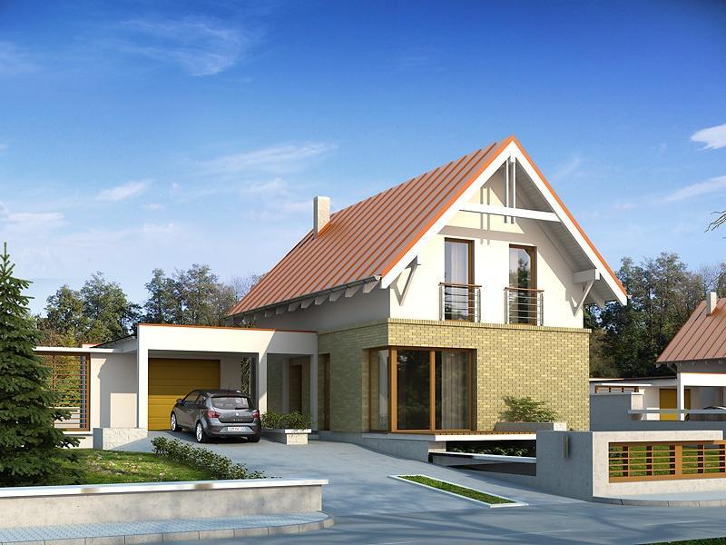 Proiecte Case - Proiect Casă Mică, cu Mansardă, 135 mp, 5 Camere, 2 Băi, ID 4407
