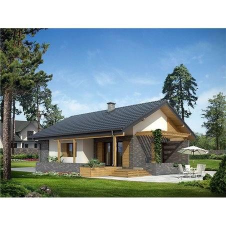 Proiecte Case - Proiect Casă Mică, Parter, 121 mp, 4 Camere, 1 Băi, ID 4395