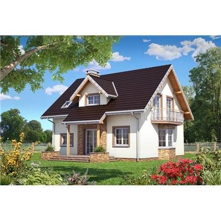 Proiecte Case - Proiect Casă de Vis, cu Mansardă, 169 mp, 4 Camere, 3 Băi, ID 4307