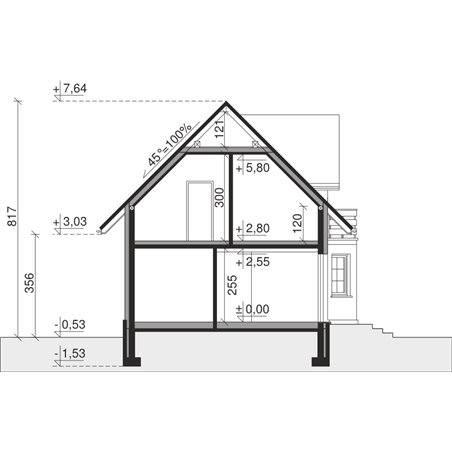 Proiecte Case - Proiect Casă Mică, cu Mansardă, 143 mp, 5 Camere, 2 Băi, ID 4237