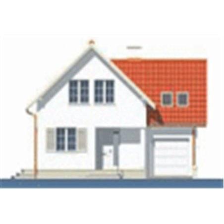 Proiecte Case - Proiect Casă Mică, cu Mansardă, 121 mp, 2 Camere, 1 Băi, ID 6372