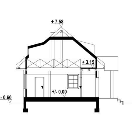 Proiecte Case - Proiect Casă Mică, cu Mansardă, 144 mp, 2 Camere, 1 Băi, ID 4222