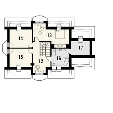 Proiecte Case - Proiect Casă de Vis, cu Mansardă, 152 mp, 6 Camere, 2 Băi, ID 4198