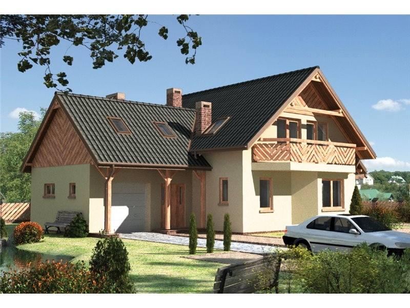 Proiecte Case - Proiect Casă Mică, cu Mansardă, 142 mp, 5 Camere, 2 Băi, ID 4184