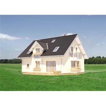 Proiecte Case - Proiect Casă de Vis, cu Mansardă, 166 mp, 6 Camere, 3 Băi, ID 4177
