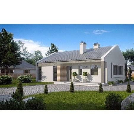 Proiecte Case - Proiect Casă Mică, Parter, 120 mp, 3 Camere, 1 Băi, ID 7224