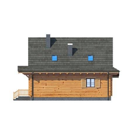 Proiecte Case - Proiect Casă Mică, cu Mansardă, 140 mp, 3 Camere, 2 Băi, ID 4123