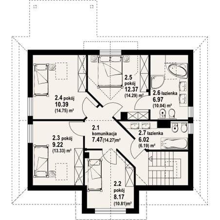 Proiecte Case - Proiect Casă de Lux, cu Mansardă, 202 mp, 6 Camere, 3 Băi, ID 4088