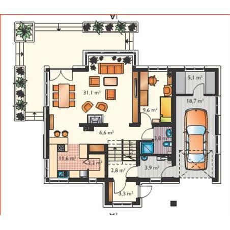 Proiecte Case - Proiect Casă Mică, cu Mansardă, 140 mp, 6 Camere, 2 Băi, ID 4063