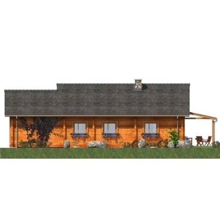 Proiecte Case - Proiect Casă Mică, Parter, 121 mp, 4 Camere, 1 Băi, ID 4035