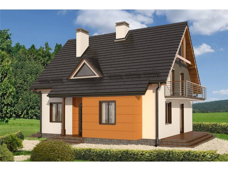 Proiecte Case - Proiect Casă Mică, cu Mansardă, 139 mp, 5 Camere, 2 Băi, ID 6344