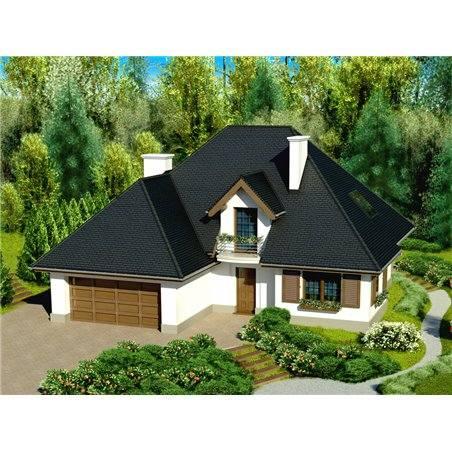 Proiecte Case - Proiect Casă de Vis, cu Mansardă, 178 mp, 6 Camere, 4 Băi, ID 3938