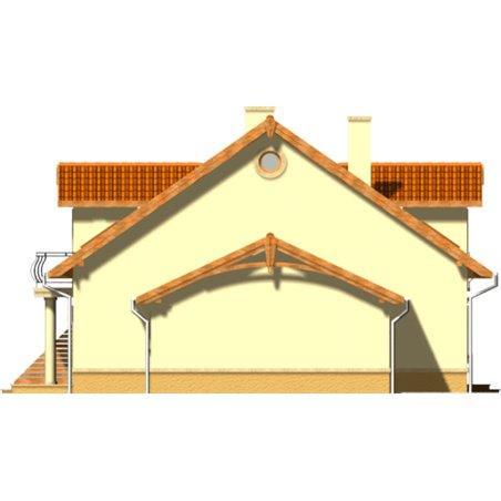 Proiecte Case - Proiect Casă Mică, cu Mansardă, 145 mp, 5 Camere, 2 Băi, ID 3925