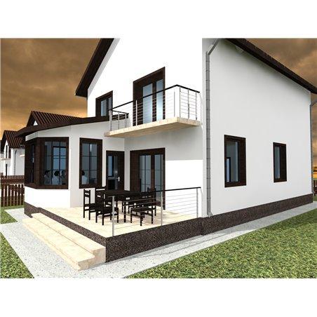 Proiecte Case - Proiect Casă de Vis, cu Etaj, 161 mp, 4 Camere, 3 Băi, ID 7367