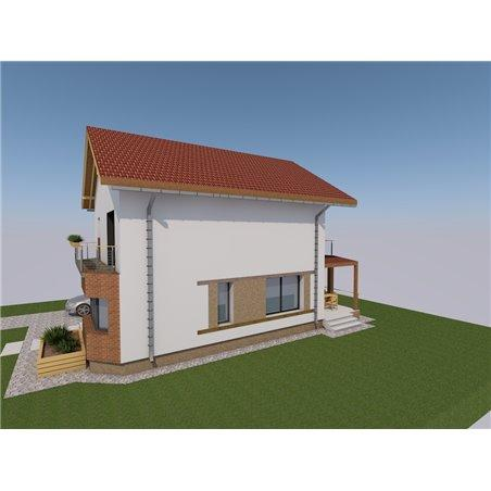 Proiecte Case - Proiect Casă de Vis, cu Etaj, 159 mp, 5 Camere, 3 Băi, ID 7368