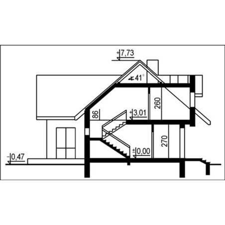 Proiecte Case - Proiect Casă Mică, cu Mansardă, 132 mp, 5 Camere, 3 Băi, ID 6317