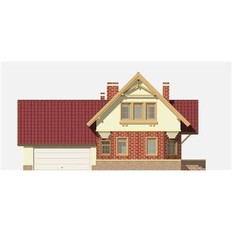 Proiecte Case - Proiect Casă Mică, cu Mansardă, 121 mp, 5 Camere, 3 Băi, ID 6315