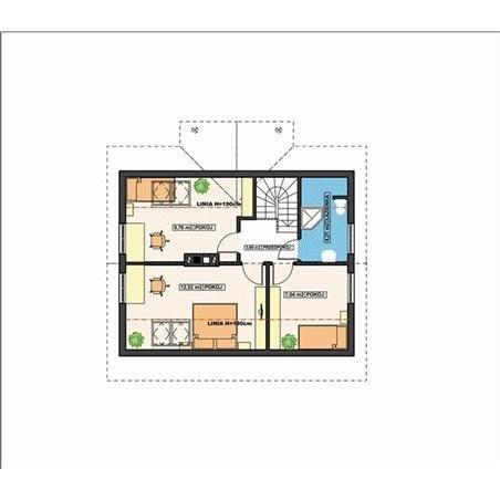 Proiecte Case - Proiect Casă Mică, cu Mansardă, 143 mp, 5 Camere, 3 Băi, ID 6313