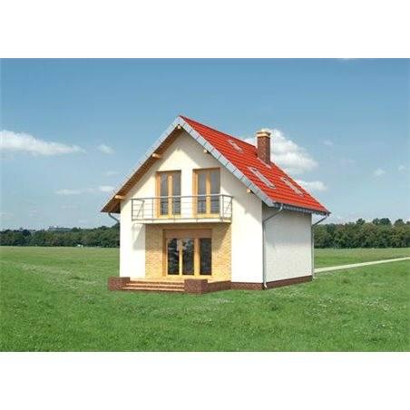 Proiecte Case - Proiect Casă Mică, cu Mansardă, 123 mp, 5 Camere, 3 Băi, ID 6278