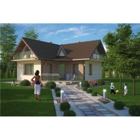 Proiecte Case - Proiect Casă Mică, cu Mansardă, 130 mp, 4 Camere, 1 Băi, ID 6239