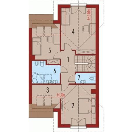 Proiecte Case - Proiect Casă de Lux, cu Mansardă, 201 mp, 4 Camere, 3 Băi, ID 6238