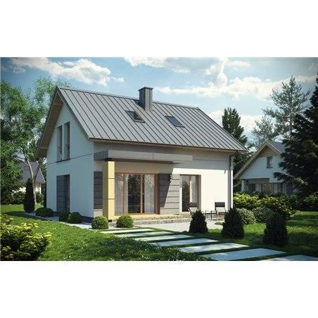 Proiecte Case - Proiect Casă Mică, cu Mansardă, 144 mp, 5 Camere, 2 Băi, ID 6236