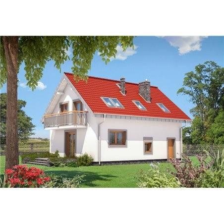 Proiecte Case - Proiect Casă Mică, cu Mansardă, 142 mp, 4 Camere, 2 Băi, ID 6213