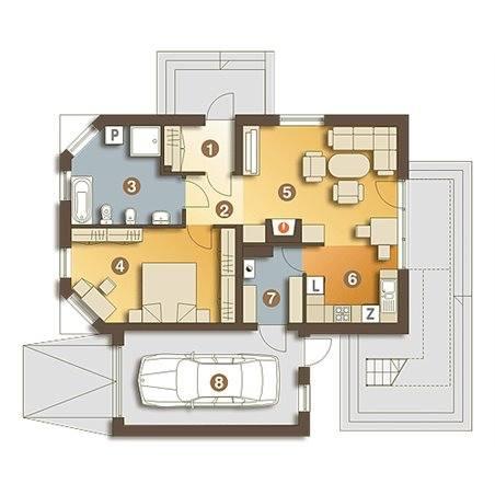 Proiecte Case - Proiect Casă Mică, Parter, 130 mp, 2 Camere, 1 Băi, ID 6210