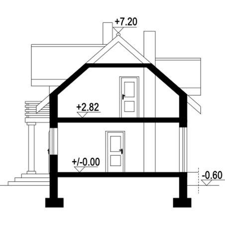 Proiecte Case - Proiect Casă Mică, cu Mansardă, 131 mp, 4 Camere, 2 Băi, ID 6193