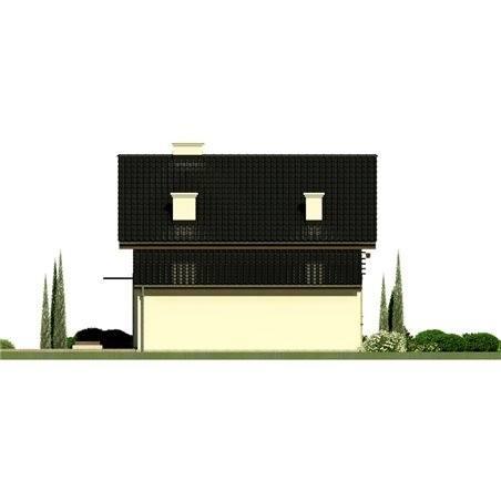 Proiecte Case - Proiect Casă Mică, cu Mansardă, 139 mp, 5 Camere, 2 Băi, ID 6186