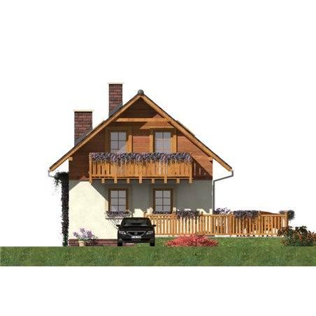 Proiecte Case - Proiect Casă Mică, cu Mansardă, 131 mp, 4 Camere, 2 Băi, ID 6158