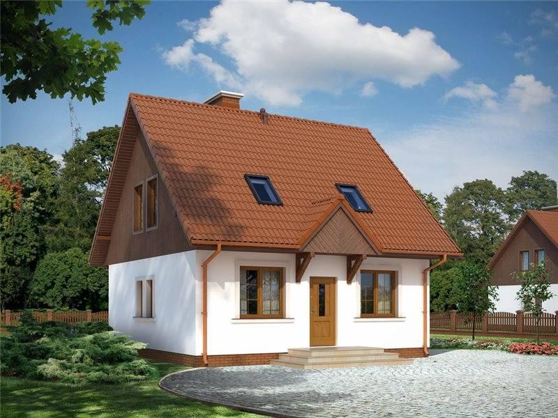 Proiecte Case - Proiect Casă Mică, cu Mansardă, 138 mp, 3 Camere, 2 Băi, ID 6061