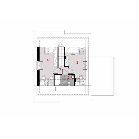 Proiecte Case - Proiect Casă Mică, cu Mansardă, 141 mp, 4 Camere, 2 Băi, ID 6034
