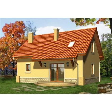 Proiecte Case - Proiect Casă Mică, cu Mansardă, 142 mp, 4 Camere, 2 Băi, ID 6027